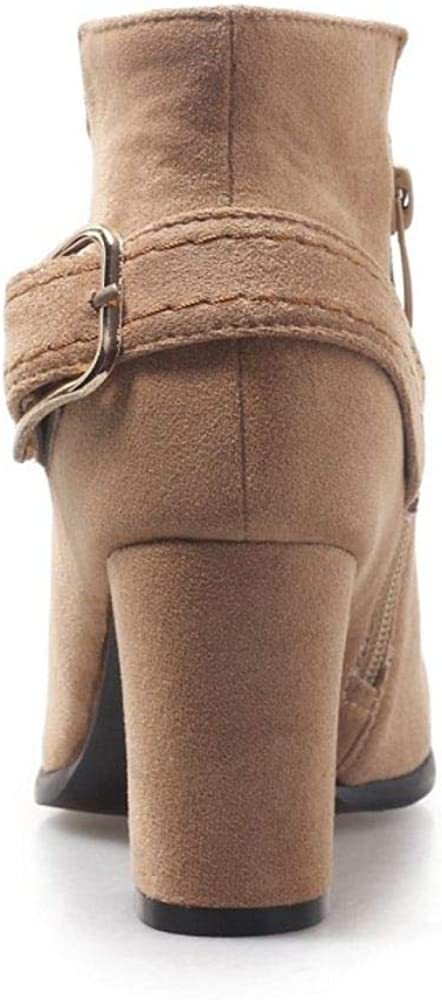 AicciAizzi Women Elegant Short Boots Dress Boots Zipper