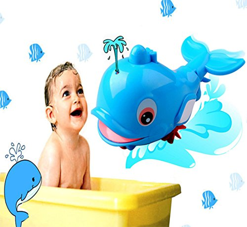 Zocita Baby Whale Bath Toy, Kids Floating Water Tub Toy Bathtub Swimming Pool Toy