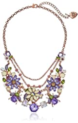 Betsey Johnson Spring Fling Mixed Flower and Bug Necklace