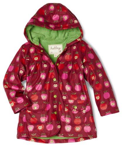 Hatley Little Girls'  Nordic Apples Children Rain Coat