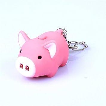 LED SchönesSchwein Schlüsselanhänger Licht Und Sound Anhänger Spielzeug Geschen!