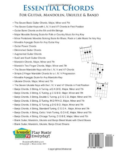 Counting Number worksheets future going to worksheets : Amazon.com: Essential Chords for Guitar, Mandolin, Ukulele and ...