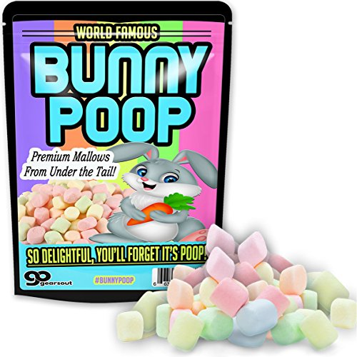 Gears Out Bunny Poop Mallows Candy Gag Funny Easter Basket for Adults Stocking Stuffers Rabbit Poop Colorful Marshmallows for Teens Weird Pranks for Kids