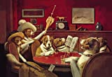 24W x 36H This Game Is Over Dog Poker 1903 by C.M Coolidge - Stretched Canvas w/ BRUSHSTROKES