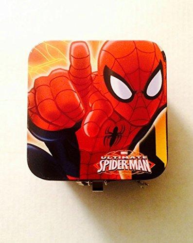 Spider Man Keepsake Coin Money Storage Holder w/ Lock & Key for Kids