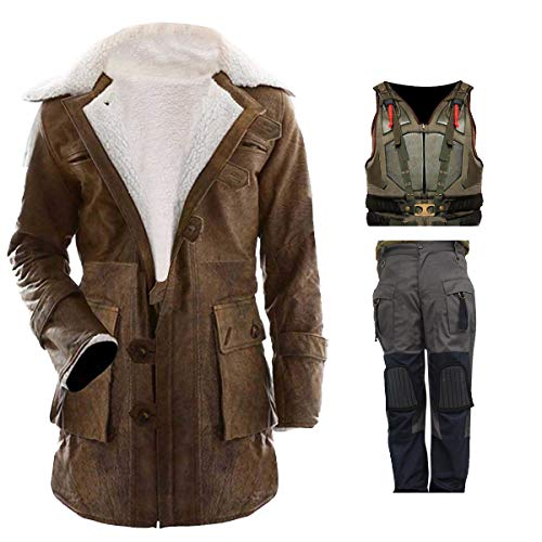 SlimfitJacket Men's Dark Military Bane Vest Rises Knight Costume]()