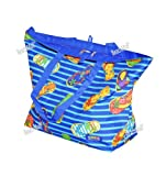 Oversized Beach / Pool Tote – Platinum Series with Zipper / Pocket, Outdoor Stuffs