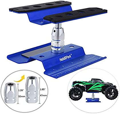 Aluminum Alloy RC Car Work Stand Repair Workstation 360 Degree Rotation Lift Or