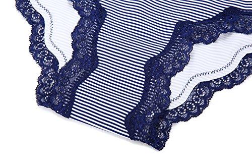 pezzi COSWE Underwear Donne Packs spot bikini 4 4 cotone mutandine pizzo sexy modello hipster morbido con multicolore OOd0rw