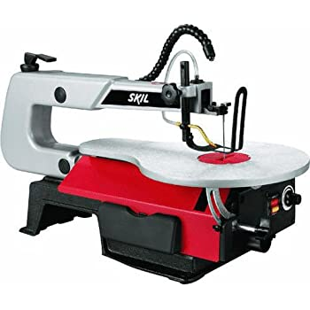 "SKIL 3335-07 16"" 1.2 Amp Scroll Saw with Light, Red"