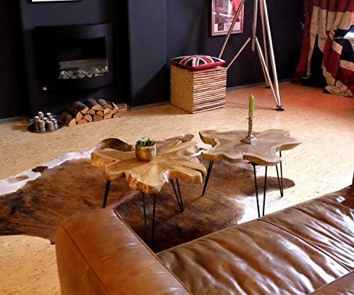 Populair Brillibrum design woonkamer klaptafel teak tafelblad van teakhout op een metalen onderstel salontafel inklapbaar unicaat robuust hout uniek iMumnwH