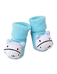 Cartoon Newborn Sock Kids Baby Girls Boys Anti Slip Warm Slipper Shoes Boots Jushye