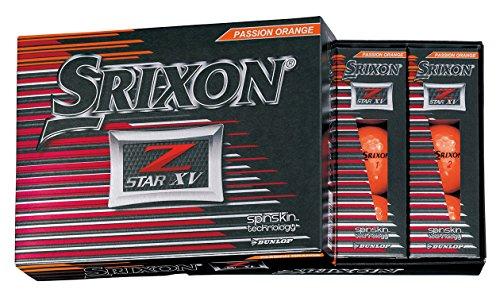 [해외] DUNLOP(던롭) 골프 볼 SRIXON Z-STAR XV 골프 볼 2017년 모델 1다스(12개 들이) 프리미엄 passion 오렌지