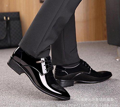 negocios de encaje Zapatos de de black MLFMHR para boda Zapatos cuero de Zapatos ocasionales los a hombres ayudar la para hombres bajos brillantes FqgHaXw