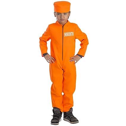 Viste a América - 793-M - Traje de Prisionero para niños - 8-10 años - Altura 123 cm - Naranja