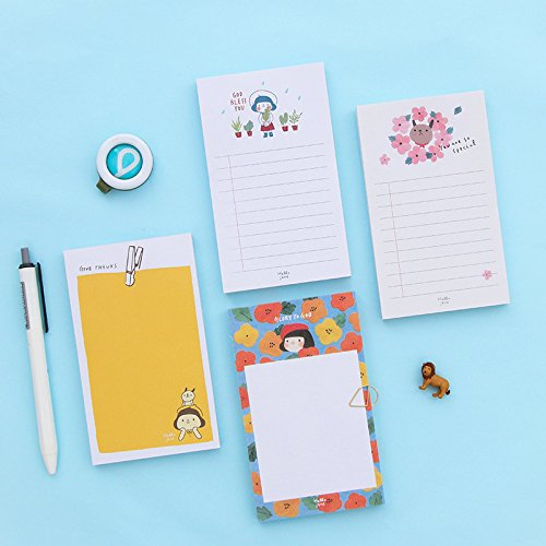 Adhesivos Libro Kitty Jane 8pcs/Lot Hello Jane Bloc de notas calcomanía, dibujos animados, portátil, notas 70 hojas de...