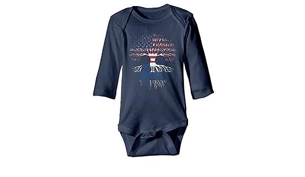 Mri-le1 Newborn Kids Organic Coverall Pit Bull Chicago Flag Infant Long Sleeve Romper Jumpsuit