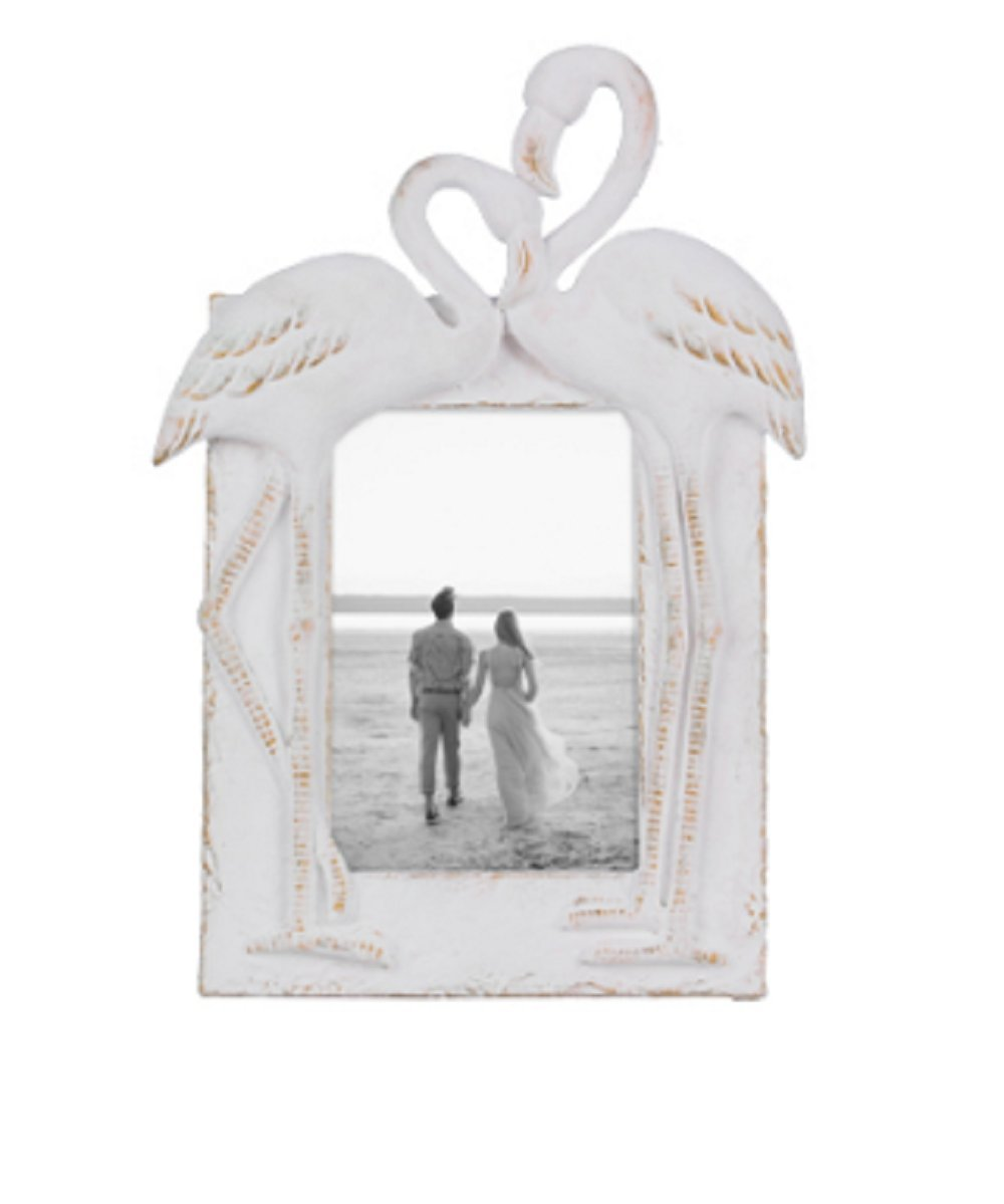 Youngs Resin Flamingo 4 x 6 inches Photo Frame Home Decor