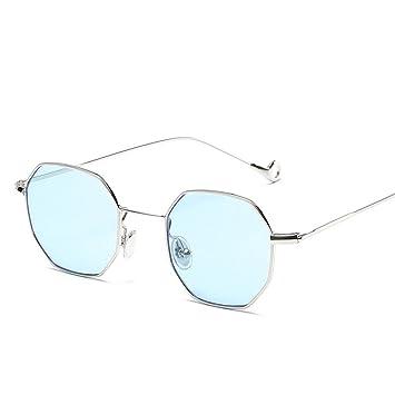RFVBNM Gafas de sol cuadradas pequeñas Piezas de mar Retro ...