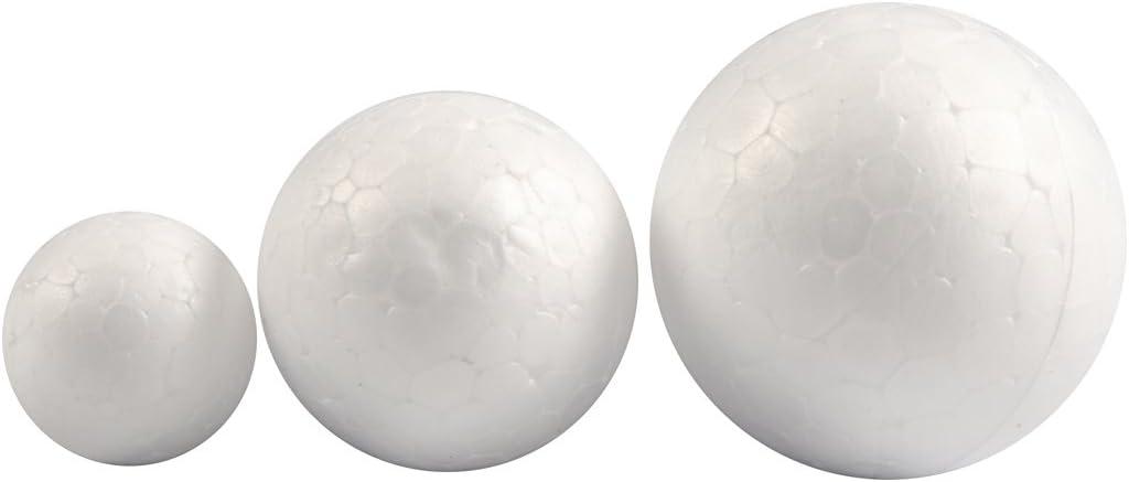 0x12pz diam: 20+30+40 mm Palle di polistirolo bianco