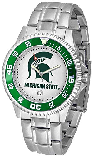 Michigan State Spartans Suntime Competitor Game Day Steel Band Watch - NCAA College Athletics