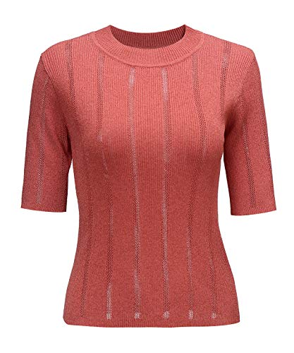 (Casual Short Sleeve Lightweight Knit Tops and Blouses Tees Pullover Sweater for Women)