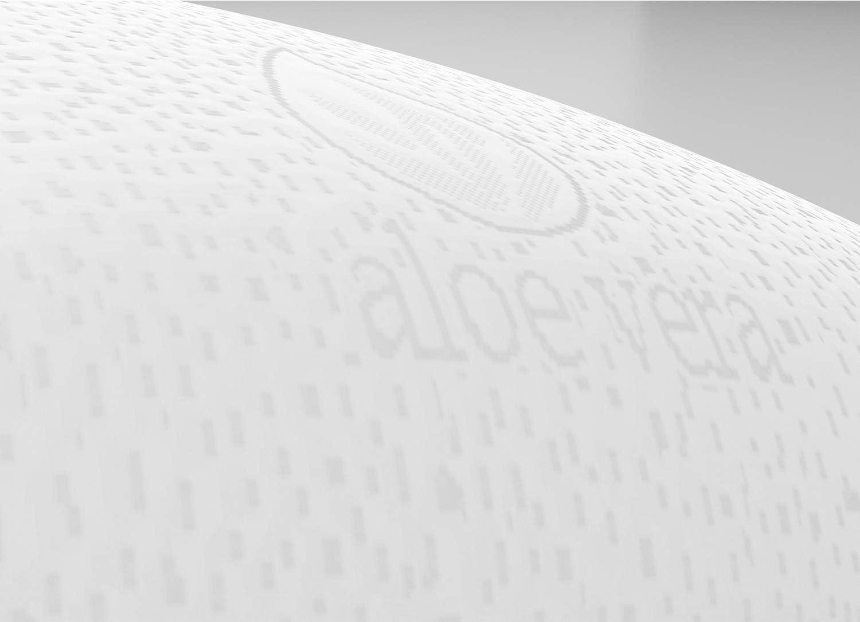 Gramaje Superior Todas Las Medidas Compacta Transpirable Doble Funda Pack 2 Unidades 75 Desenfundable Almohada Viscoelastica Aloe Vera Imperial Relax