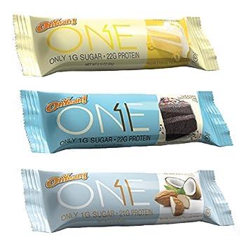 OhYeah Nutrition One Bars Lemon Cake Almond Bliss And Chocolate Birthday