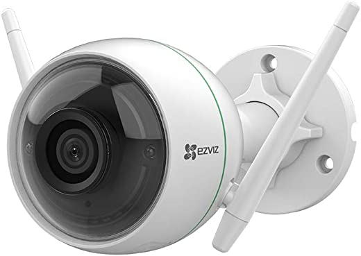 EZVIZ by Hikvision C3WN Wi-Fi Outdoor Full HD 1080p IP66 Camera with Motion Alert, Night Vision, 256 GB microSD Card Slot