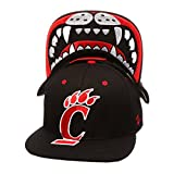 Zephyr NCAA Cincinnati Bearcats Men's The Menace Snapback Hat, Adjustable, Black