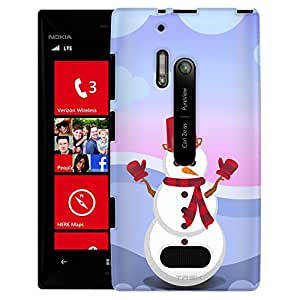 Nokia Lumia 928 Case, Slim Fit Snap On Cover by Trek Classic Snowman Case