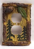 Pine Tree Outlet Plate Cover Home & Cabin Decor