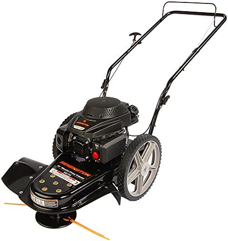 Remington RM1159 159cc 4-Cycle Gas Powered Walk-Behind High-Wheeled String Trimmer – 22-Inch Trimming Mower for Lawn Care, Black