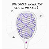 AMYDREAMSTORE Electric fly swatter,Bug zapper Racket Electric mosquito swatter Bug zapper electric fly swatter racket Handheld For indoor outdoor use-A 23x54cm(9x21inch)