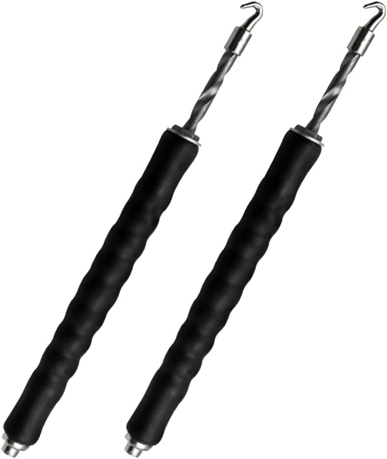 Black DOITOOL 2PCS Automatic Rebar Tie Wire Twister Tool Pull Tie Wire Twister for Wires and Rebar Ties Twister Tool,Concrete Metal Wire Twisting Fence Tool
