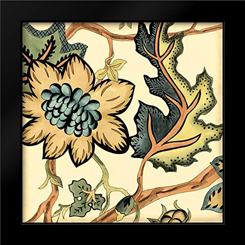 - Small Jacobean Tile III 28x28 Modern Black Wood Framed Art Print by Zarris, Chariklia