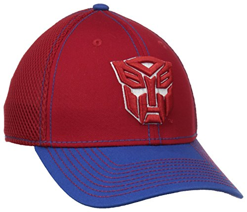 New Era Cap Men's Autobot 2-Tone Neo Stretch Fit Cap, Red/Blue, Small/Medium