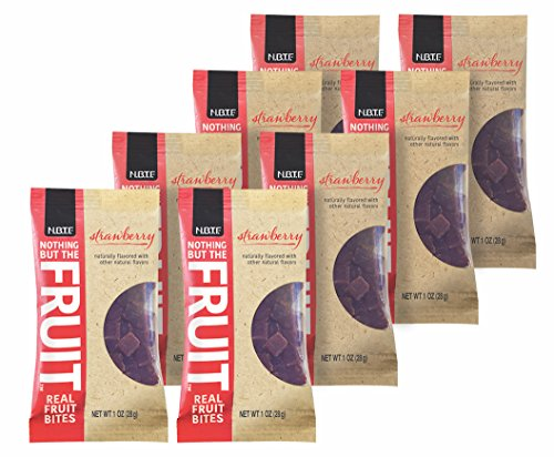 Nothing But the Fruit Real Fruit Bites, Gluten Free, Vegan Snacks, Strawberry, 1 oz. pouch (8 Count)