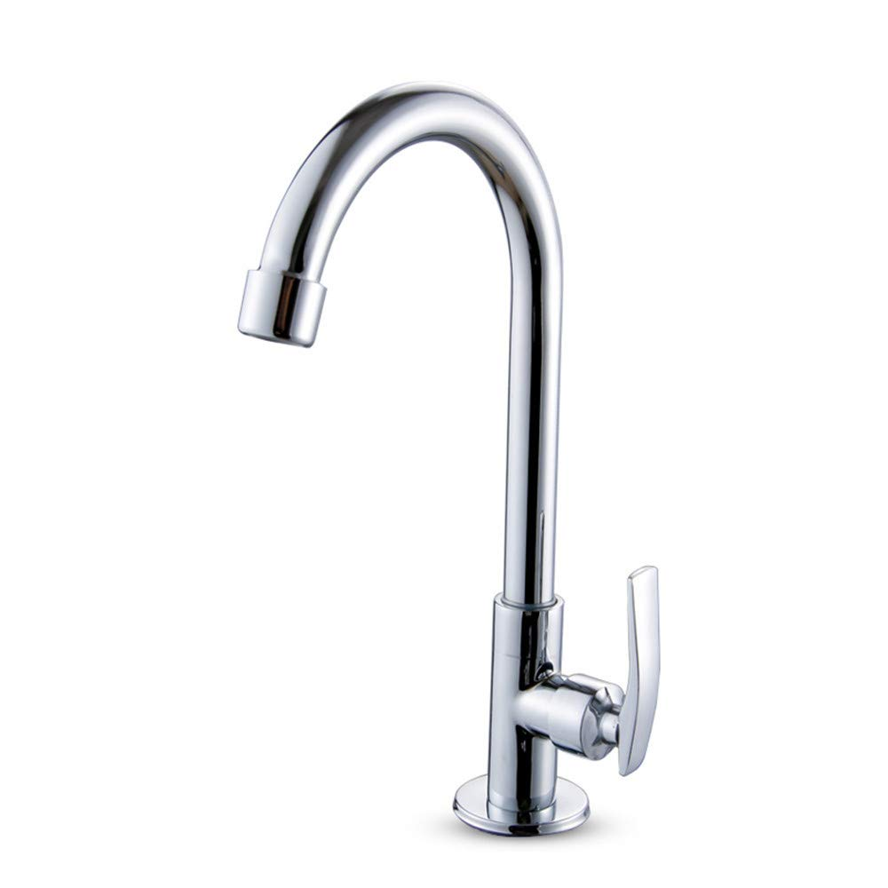 SADF Kitchen Bathroom Sink Washing Dish Wash Basin Single Cold Faucet