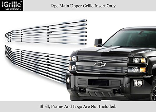 - APS for 2015-2018 Chevy Silverado 2500HD/3500 HD Stainless Billet Grille #N19-S81366C