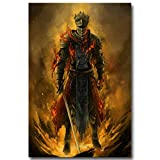 Lawrence Painting Dark Souls 1 2 3 Art Canvas Poster Print Game Picture For Wall Decor 2