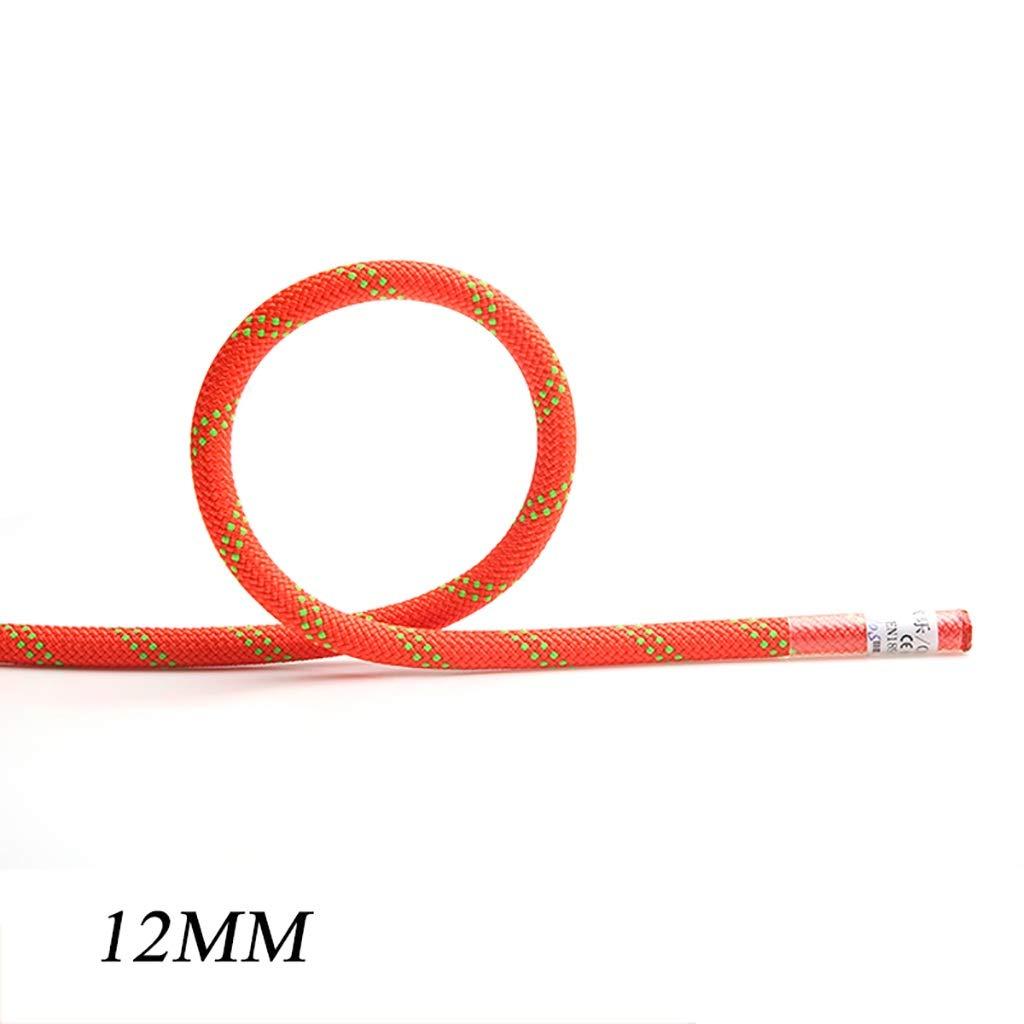 12mm LXYFMS Le Travail aérien de Corde s'élevant de Corde Portent la Corde Corde Statique Corde en Plein air Escalade de Sauvetage 12mm   14mm Corde d'alpinisme (Couleur   12MM, Taille   10M) 50M