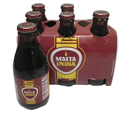 Malta India Non Alcoholic Malt Beverage Drink 7 Oz Bottles (6 Pack) 42 Total Ounces 6 - Color Malta
