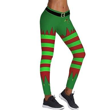Amazon.com: Leggings de Navidad para mujer, diseño de muñeco ...