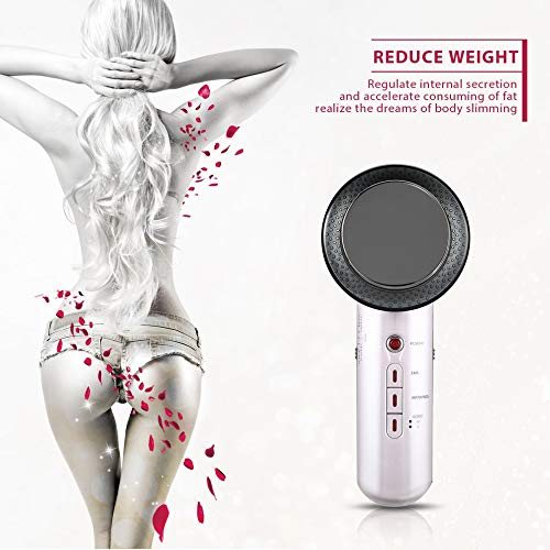 BFHCVDF Ultrasound Body Slimming Massager Anti-Cellulite Infrared Therapy Massage Tool White /& Black