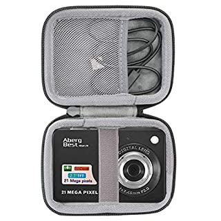 """co2crea Hard Travel Case Replacement for AbergBest 21 Mega Pixels 2.7"""" LCD Rechargeable HD Digital Camera Video Camera Digital Students Cameras (Black Case)"""