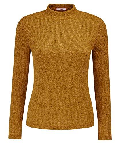 Joe Browns Women's Long Sleeved Turtleneck Rib Jersey Top - Turtleneck Sleeved Long