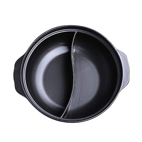 YIHOME- Cazuela Negra Stewpan Manual Hogar Cerámica Cocina De Inducción De Gas Tradicional Multifuncional Sopa