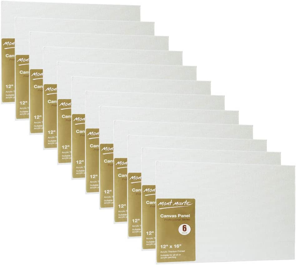 Canvas Panel Great for Students to Professional Artists Pack of 24 8 X 10 inches Mont Marte Canvas Panel