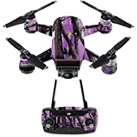 Skin for DJI Spark Mini Drone Combo - Purple Tree Camo| MightySkins Protective, Durable, and Unique Vinyl Decal wrap cover | Easy To Apply, Remove, and Change Styles | Made in the USA